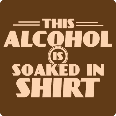 Funny Beer T-Shirt (Alcohol Soaked Tee)