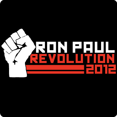 Ron Paul Revolution T Shirt Wht Red
