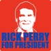 Rick Perry for President Tee (Face,Wht,Royal)