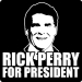 Rick Perry for President Tee (Face,Wht)