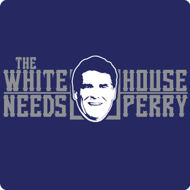 White House Needs Rick Perry T-Shirt (Wht,Grey)