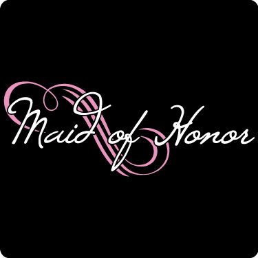 Maid of Honor T-Shirt (Loop, Soft Pink, Wht)