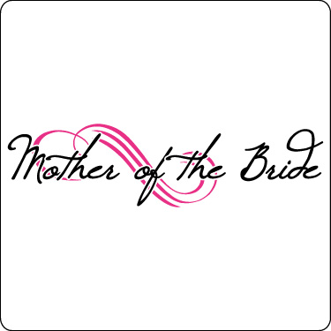 Mother of the Bride T-Shirt (Loop, Hot Pink, Blk)