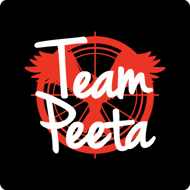Team Peeta Tee (Red,Wht)