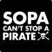 Anti Sopa T-Shirt (Can't Stop a Pirate)