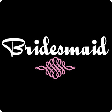 Bridesmaid T-Shirt (Script, Soft Pink, Wht)