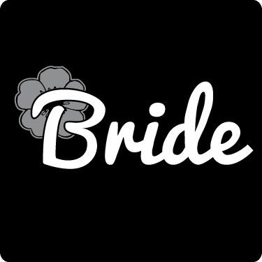 Bride T-Shirt (Flower, Grey, Wht)