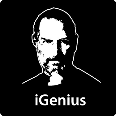 Steve Jobs Apple Resigns T-Shirt (iGenius, Dark)