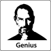 Steve Jobs Apple Resignation T-Shirt (Genius, Light)